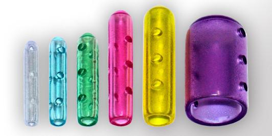 Instrumentenschutzkappen gelocht, farbig-transluzent, rund