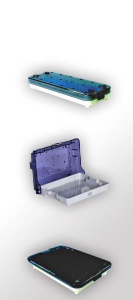 Sterilisationstrays aus Kunststoff mit Deckel, zum Schutz von Instrumenten