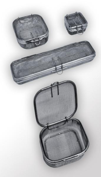 Kleinteilsiebe mit Deckel, aus Edelstahl, Maschenweite: 1 x 1 mm