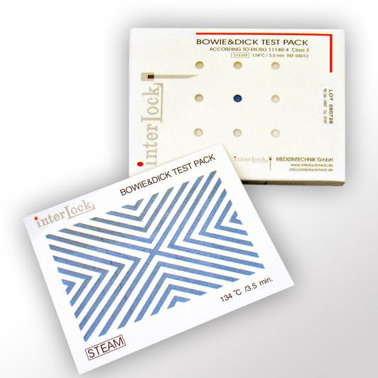 Chargenkontrolle / für die Dampfsterilisation Interlock Bowie & Dick Einmal-Testpaket